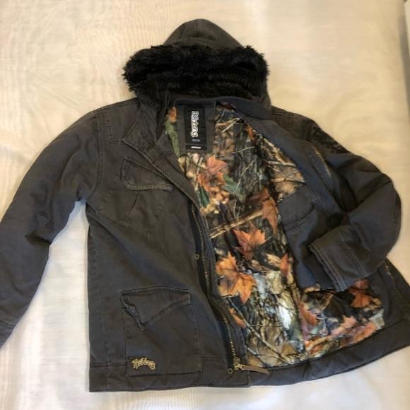 4f8db507f650f Billabong Jackets & Coats   Classic Mens Twill Camolined Jacket ...